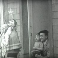 Driekoningen zingen in de jaren 60 te Balen (foto: erfgoed Balen)